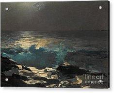 Moonlight, Wood Island Light, 1894 Acrylic Print by Winslow Homer