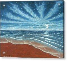 Moonlit Beach Acrylic Print