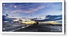 Moonlit Beach Sunset Seascape 0272b1 Acrylic Print