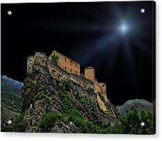 Moonlit Castle Acrylic Print by Anthony Dezenzio
