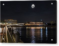 Moonlit Disney Contemporary Resort Acrylic Print