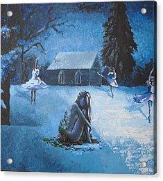 Moonlit Dream Acrylic Print by Julia Ranson