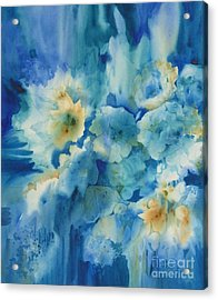 Moonlit Flowers Acrylic Print