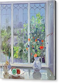 Moonlit Flowers Acrylic Print by Timothy Easton