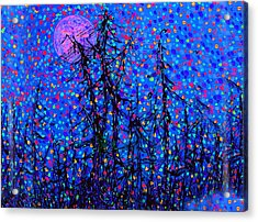 Moonlit Forest Acrylic Print