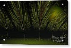 Moonlit Forest Acrylic Print by Sandra Bauser Digital Art