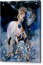 Moonlit Gallop Acrylic Print by Maria Barry