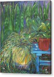 Moonlit Garden Acrylic Print by Karen Doyle