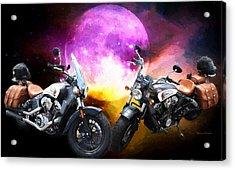 Moonlit Indian Motorcycle Acrylic Print