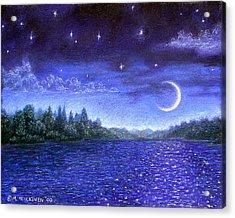 Moonlit Lake Acrylic Print