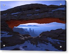 Acrylic Print featuring the photograph Moonlit Mesa by Chad Dutson