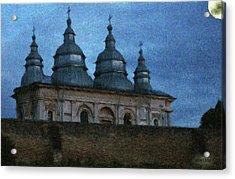 Moonlit Monastery Acrylic Print
