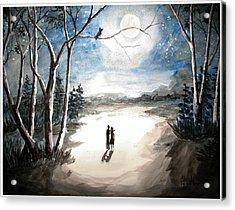 Moonlit Night Sweet Memory Acrylic Print by Shashikanta Parida