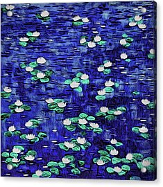 Moonlit Nymphaea Acrylic Print