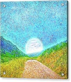 Acrylic Print featuring the digital art Moonlit Path - Marin California Trail by Joel Bruce Wallach