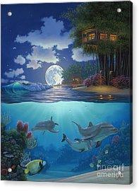 Moonlit Sanctuary Acrylic Print by Al Hogue