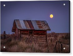 Moonlit Shed Acrylic Print by Brad Stinson