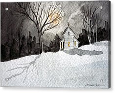 Moonlit Snow Acrylic Print