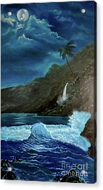 Moonlit Wave Acrylic Print