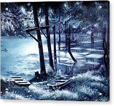 Moonlite On Village Creek Acrylic Print