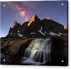 Moonrise At Cirque Of The Towers. Acrylic Print