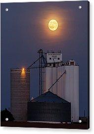 Moonrise At Laird -02 Acrylic Print