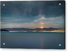 Acrylic Print featuring the photograph Moonrise At Mono Lake by Alexander Kunz