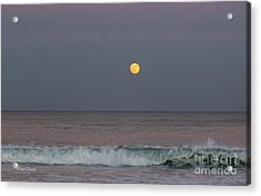Acrylic Print featuring the photograph Moonrise At Sunset by Michelle Wiarda