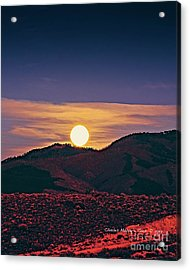 Moonrise In Northern New Mexico  Acrylic Print