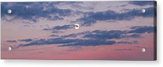 Acrylic Print featuring the photograph Moonrise In Pink Sky by D K Wall