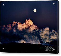 Moonrise In Taos Acrylic Print