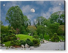 Moonrise Meditation Acrylic Print by Charles Warren