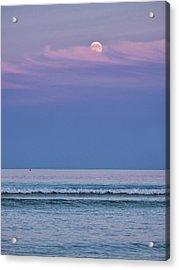 Moonrise - Ogunquit Beach - Maine Acrylic Print