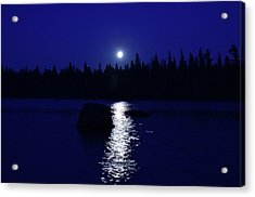 Moonrise On A Midsummer's Night Acrylic Print by David Porteus