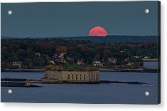 Moonrise Over Ft. Gorges Acrylic Print