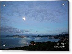 Moonrise Over Kaneohe Bay Acrylic Print