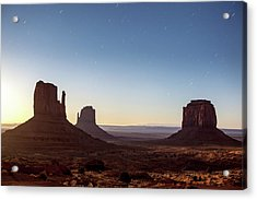 Moonrise Over Monument Valley Acrylic Print