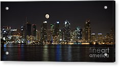Moonrise Over San Diego Acrylic Print