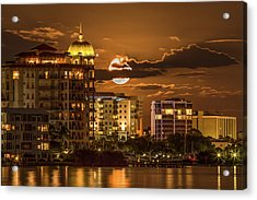 Moonrise Over Sarasota Acrylic Print