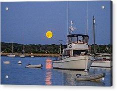 Moonrise Vineyard Haven Acrylic Print