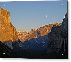Acrylic Print featuring the photograph Moonrise by Walter Fahmy