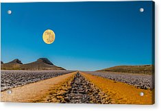 Moonrise Wyoming Acrylic Print by Don Spenner