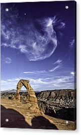 Moonset Delicate Arch Acrylic Print