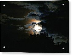 Moonset In The Clouds 2 Acrylic Print