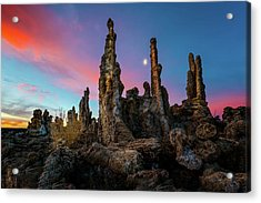Moonset Over Mono Lake Acrylic Print