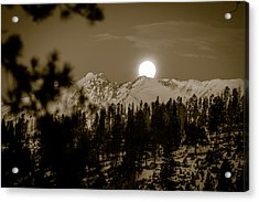 moonset over the Rockies Acrylic Print