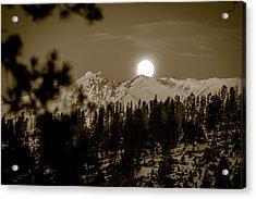 moonset over the Rockies Acrylic Print
