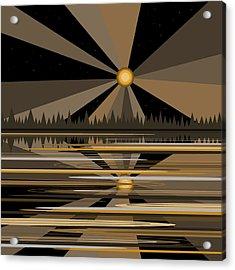 Moonshine Gold Acrylic Print