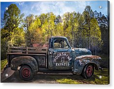 Moonshine In The Mountains Acrylic Print by Debra and Dave Vanderlaan