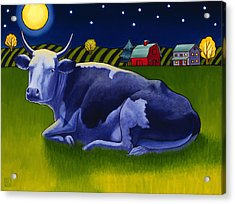 Mooonlight Acrylic Print by Stacey Neumiller